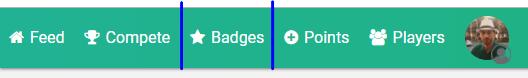 Badges menu
