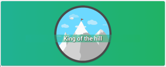 King of the hill badge