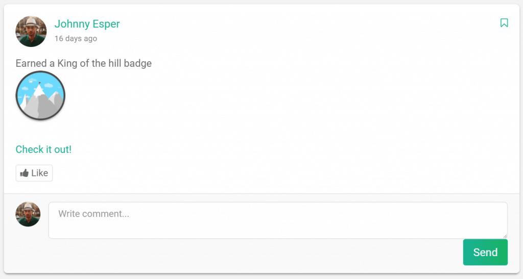 badge post