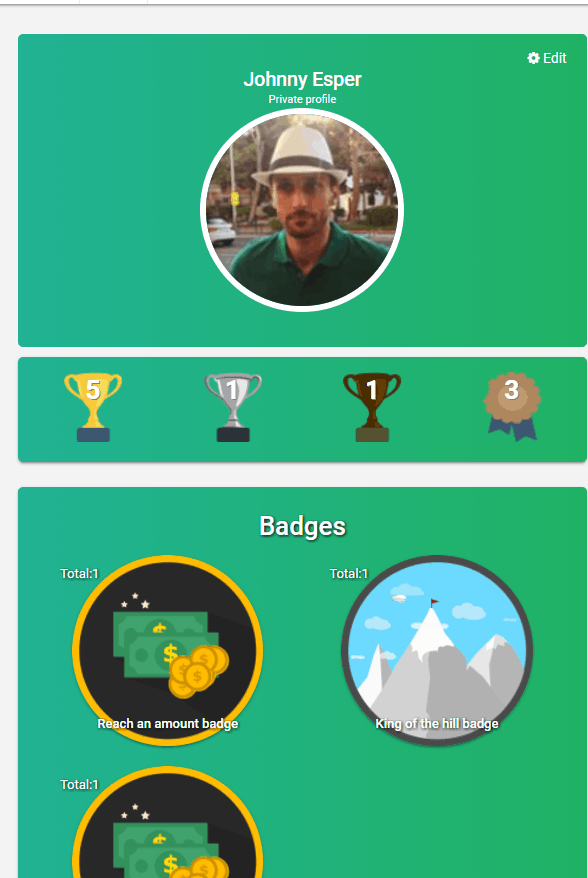 profile badges