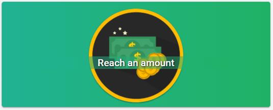 reach an amount