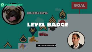 Level up gamification badge 2