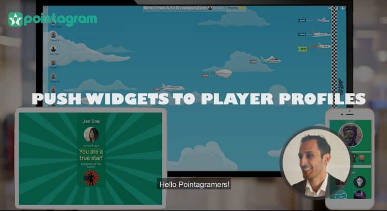 Push Widgets to Player Profle gamifys